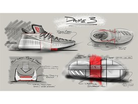 adidas Dame 3 Sketch 3