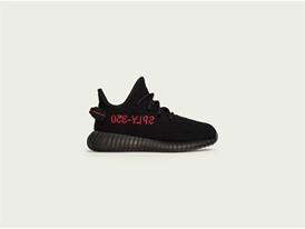 YEEZY BOOST 350 V2 Core Black / Red Youth Lateral Right