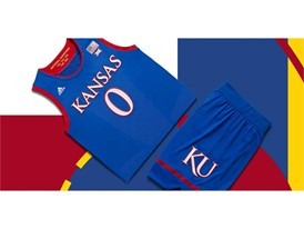 adidas NCAA Create Yours Kansas Mens 4