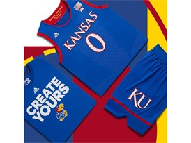 adidas NCAA Create Yours Kansas Mens 5