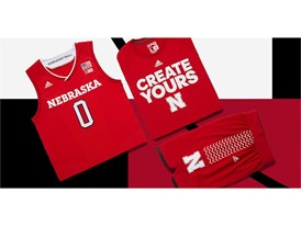 adidas NCAA Create Yours Nebraska Mens 3