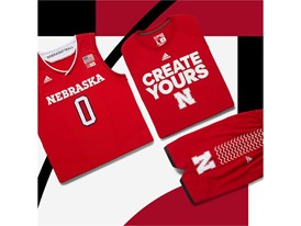 adidas NCAA Create Yours Nebraska Mens 5