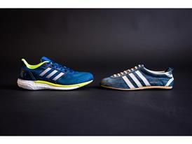 Kathrine's original shoe – adidas Special – and current shoe – adidas Supernova BOOST 1
