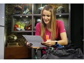 Gracie Lachowecki reads adidas letter
