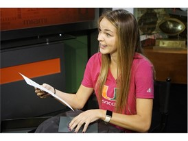 Gracie Lachowecki reads letter from adidas