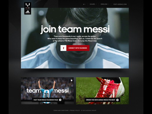 Team Messi Facebook app homescreen