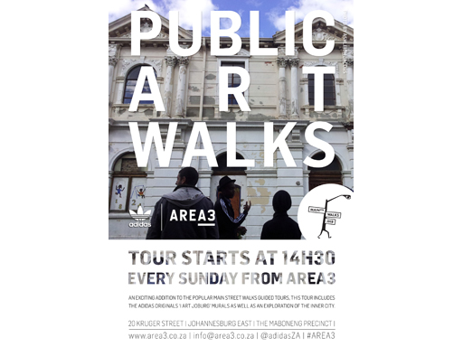 adidas Originals AREA3 Public Art Walks