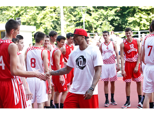 adidas D Rose Tour, Zagreb, Croatia, D Rose Court Dedication 2