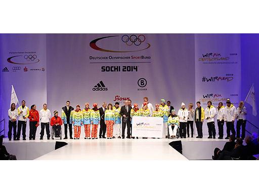 Präsentation Sotschi Ausrüstung Deutsche Olympiamannschaft