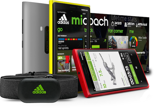 miCoach Windows Phone8 with HRM