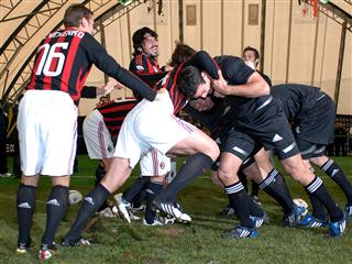 AC Milan host the All Blacks rugby team in a one of a kind match-up