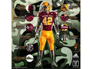 Arizona State, The Pat Tillman Foundation & adidas Unveil New 'PT42' Alternate Football Uniforms