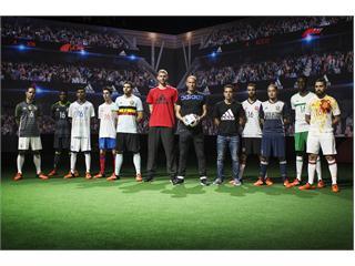 adidas y la RFEF presentan la segunda equipación para la Eurocopa de Francia 2016, en un espectacular estadio digital en Saint Denis, París.