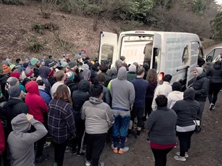 PORTLAND RUNNERS BRAVED THE COLD, ADIDAS BROUGHT THE HEAT