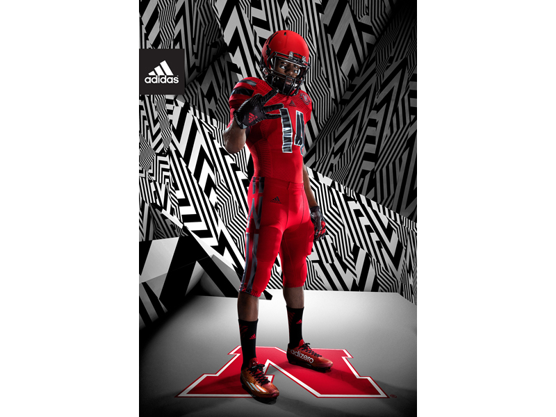 adidas NCAA Nebraska Front