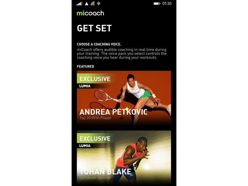 MiCoach Windows Phone 1