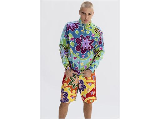 adidas Originals by Jeremy Scott FW15 Q3 MENS BLUE ABSTRACT IMAGE
