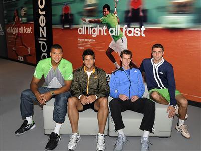 Jo-Wilfried Tsonga debuts adizero Roland Garros collection
