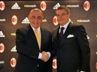 adidas annuncia che A.C. Milan sarà il primo top Club ad utilizzare l'innovativo miCoach Elite System
