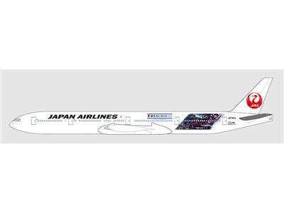 「円陣」をイメージした JAL 特別塗装機「SAMURAI BLUE 応援ジェット 2 号機」国際線に就航