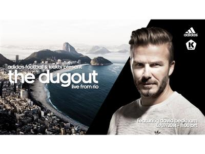 "Beckham to join final episode of adidas' ""The Dugout"" live show"