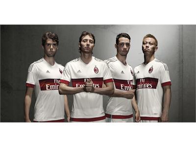 adidas e AC Milan presentano la seconda maglia dei rossoneri per la stagione 2015/16