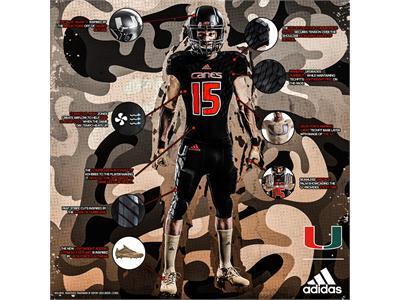 The University of Miami & adidas Unveil New 'Military Appreciation Day' Alternate Football Uniforms