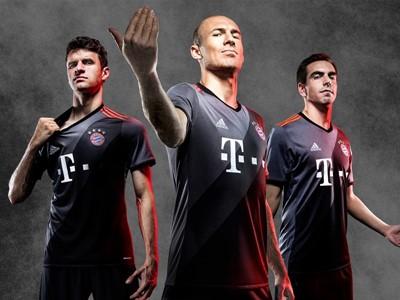 adidas dezvăluie echipamentul clubului Bayern Munich pentru meciurile din deplasare din sezonul 2016/17