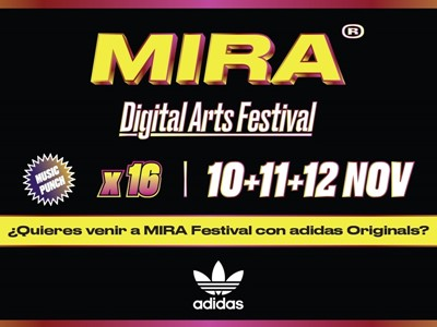 adidas Originals estará presente en MIRA Digital Arts Festival 2016 patrocinando el MIRA Dome by adidas Originals y la adidas NMD Room