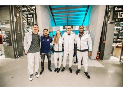 From L to R Sacha Kljestan, David Villa, Becky Sauerbrunn, Carlos Correa and DeMarco Murray @adidas NYC Flagship Opening