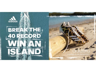 adidas Football Offers the Pro Prospect Who Breaks the 40-Yard Dash Record Their Own Island