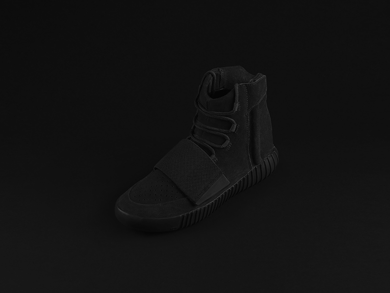 YEEZY BOOST 750 all black 1