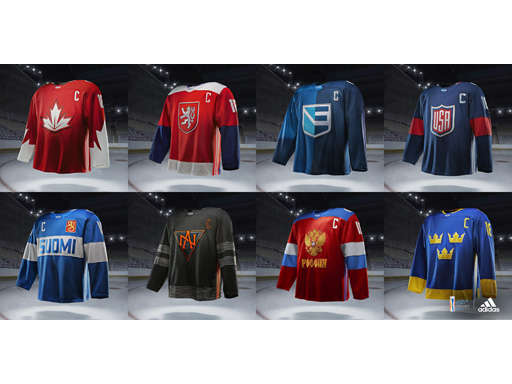 World Cup of Hockey 2016 Uniforms