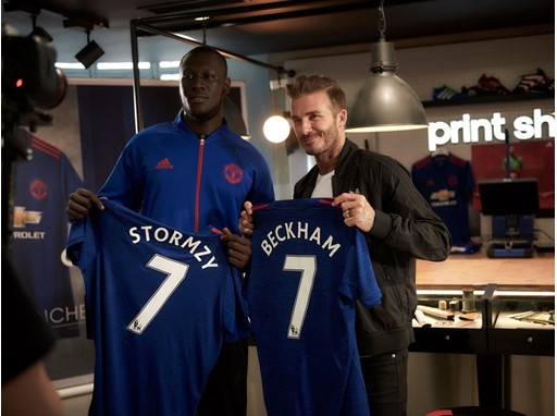 GRIME OF HIS LIFE - David Beckham and Stormzy show new adidas MUFC away ...