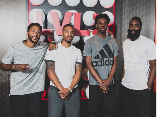 Derrick Rose, Damian Lillard, Andrew, Wiggins and James Harden join adidas at #LVL3