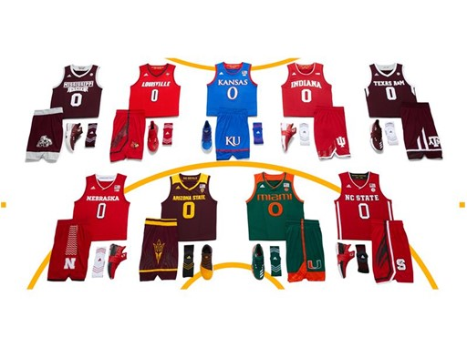 adidas NCAA Create Yours All Schools Horizontal