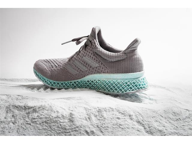 The concept shoe consists of an upper made with ocean plastic content and a  midsole which is 3D printed using recycled polyester and gill net content.
