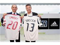 Herbert Hainer and Don Garber  Smart Soccer 2013 jerseys