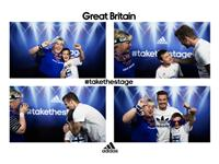 David Beckham pops up at adidas Photobooth