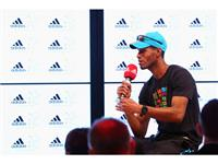 Javier Culson visits adidas London 2012 Media Lounge