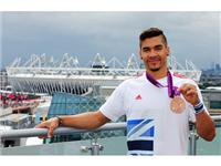Louis Smith and Zoe Smith visit the adidas London 2012 Media Lounge