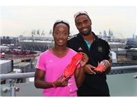 Tyson Gay and Kelly-Ann Baptiste join adidas at its London 2012 Media Lounge