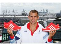 Robbie Grabarz visits the adidas London 2012 Media Lounge