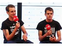 Champion brothers Alistair Brownlee and Jonathan Brownlee join adidas at its London 2012 Media Lounge