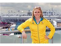 100m hurdle Olympic gold medalist Sally Pearson visits the adidas London 2012 Media Lounge
