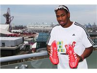 Yohan Blake with the adidas Prime knit