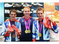 Sir Chris Hoy with the Brownlee brothers