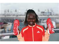 Mary Keitany with the adidas Prime Knit