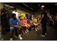 Fernando Verdasco, Ana Ivanovic, Gilles Simon and Jack Sock Surprise Kids at the adidas Sport Performance store in New York