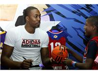 Dwight Howard of Los Angeles Lakers at adidas Store during NBA All-Star